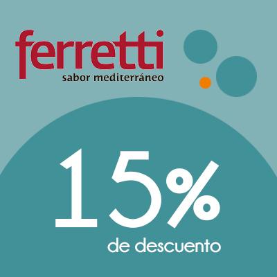 Ferretti - 15% de descuento