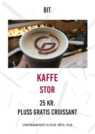 BIT Kaffe stor + gratis croissant