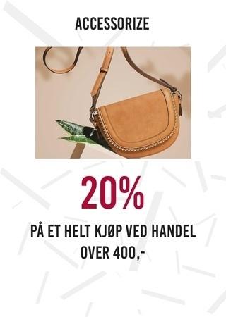 Accessorize: 20% på et helt kjøp