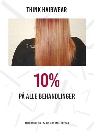 Think hairwear: 10% på alle behandlinger