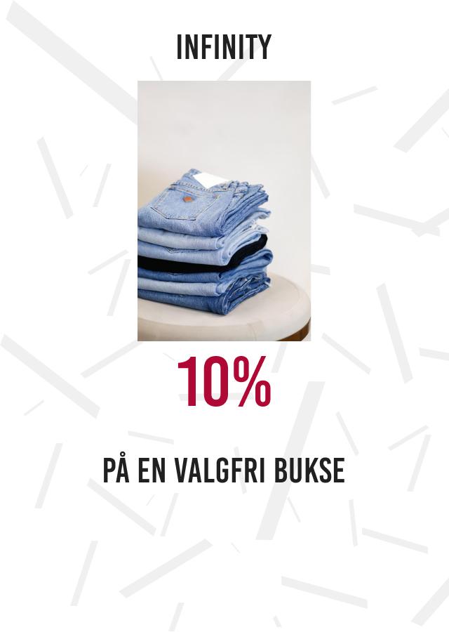 Infinity: 10% på bukser