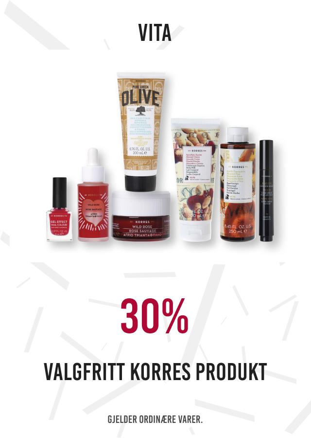 30% på valgfritt korres produkt