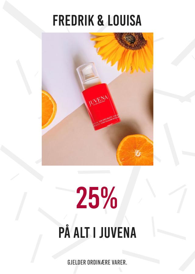 25% på alt i Juvena