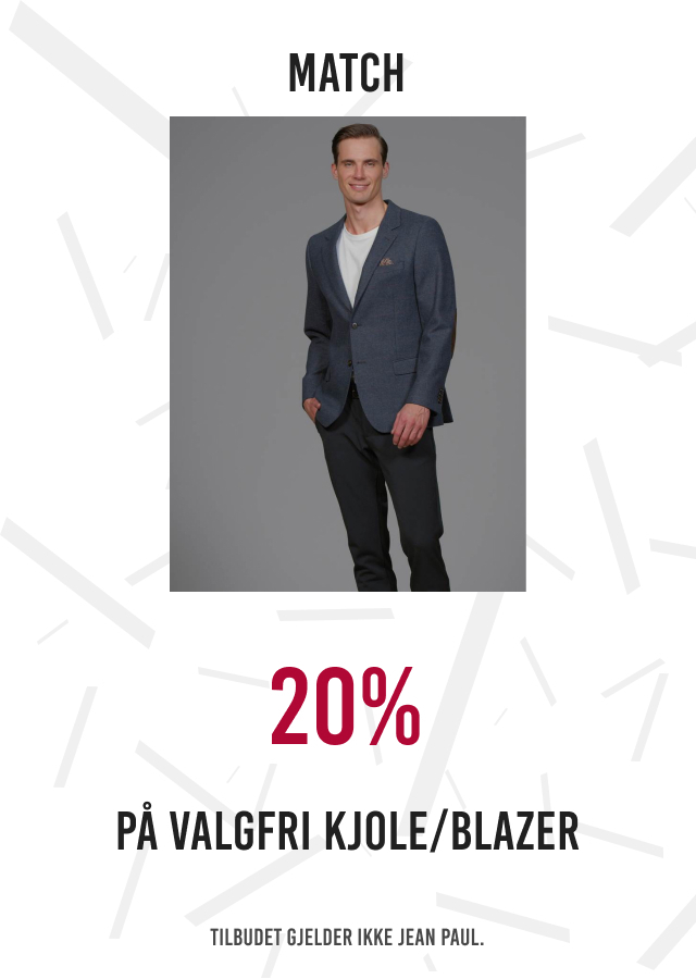 20% på valgfri kjole/blazer