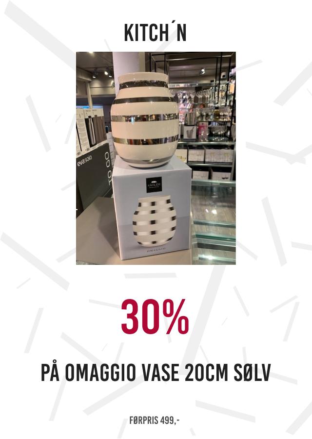 30% på omaggio vase