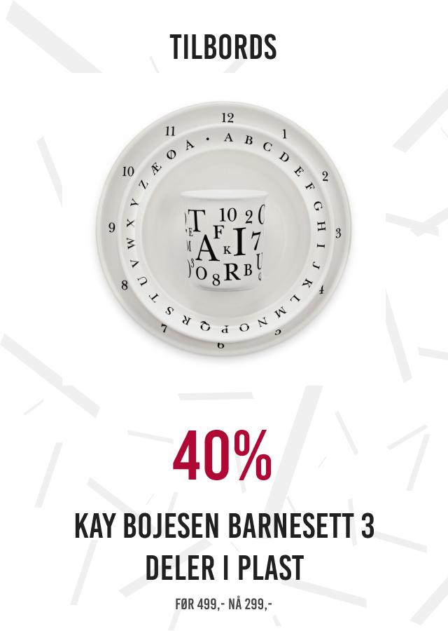 40% Kaj Bojesen barnesett 3 deler i plast