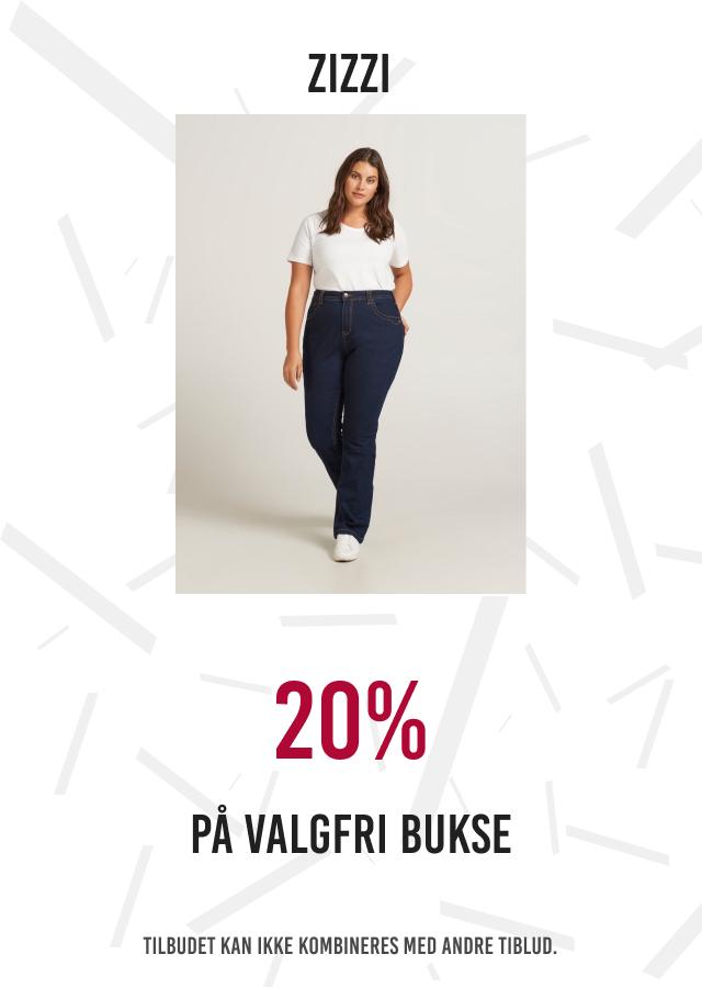 20% på valgfri bukse